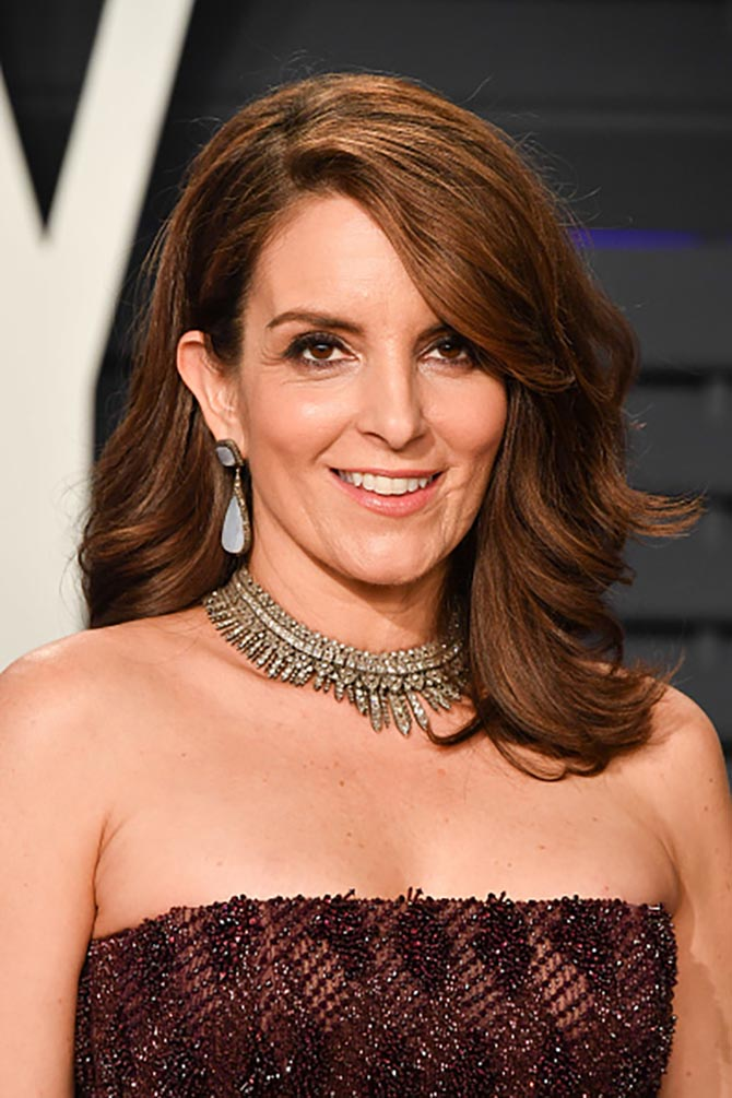 Tina Fey wore jewels from Neil Lane.
