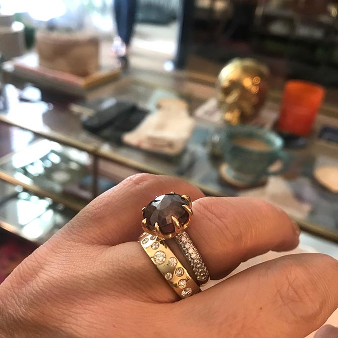 Beth Anne Bonanno's engagement ring by Pamela Huizenga Photo courtesy