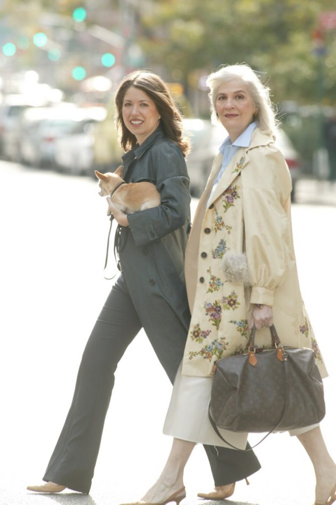 A 2004 image of Marion Fasel with Penny Proddow. Photo Craig Blankenhorn