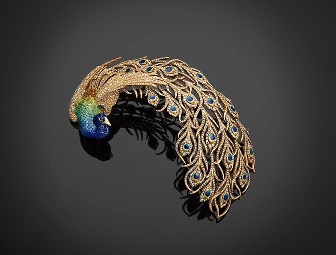 Mellerio Bird Aigrette made around 1905 from The Al Thani Collection being sold at Christie's in June. Photo courtesy