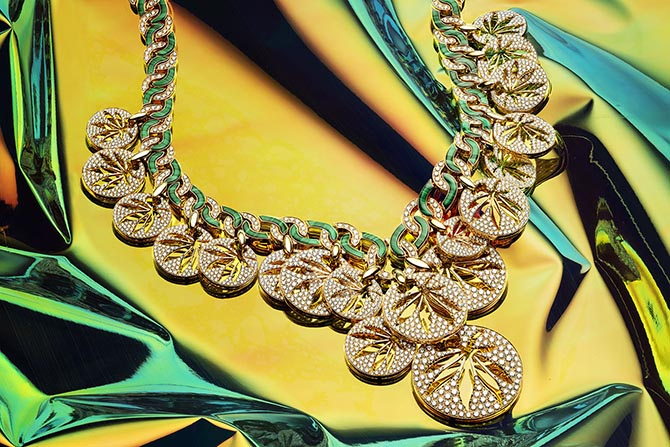 Happy Leaves necklace from Bulgari's Wild Pop collection. Photo courtesy