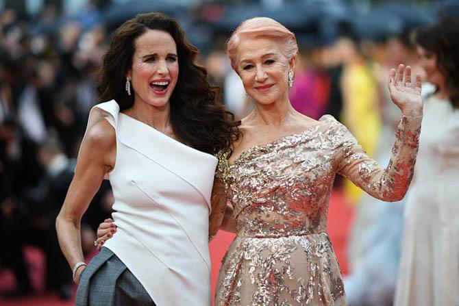 Andie MacDowell and Helen Mirren both wore Chopard diamond jewelry.