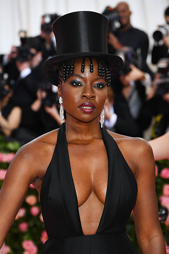 Danai Gurira in jewels from Fred Leighton at The 2019 Met Gala