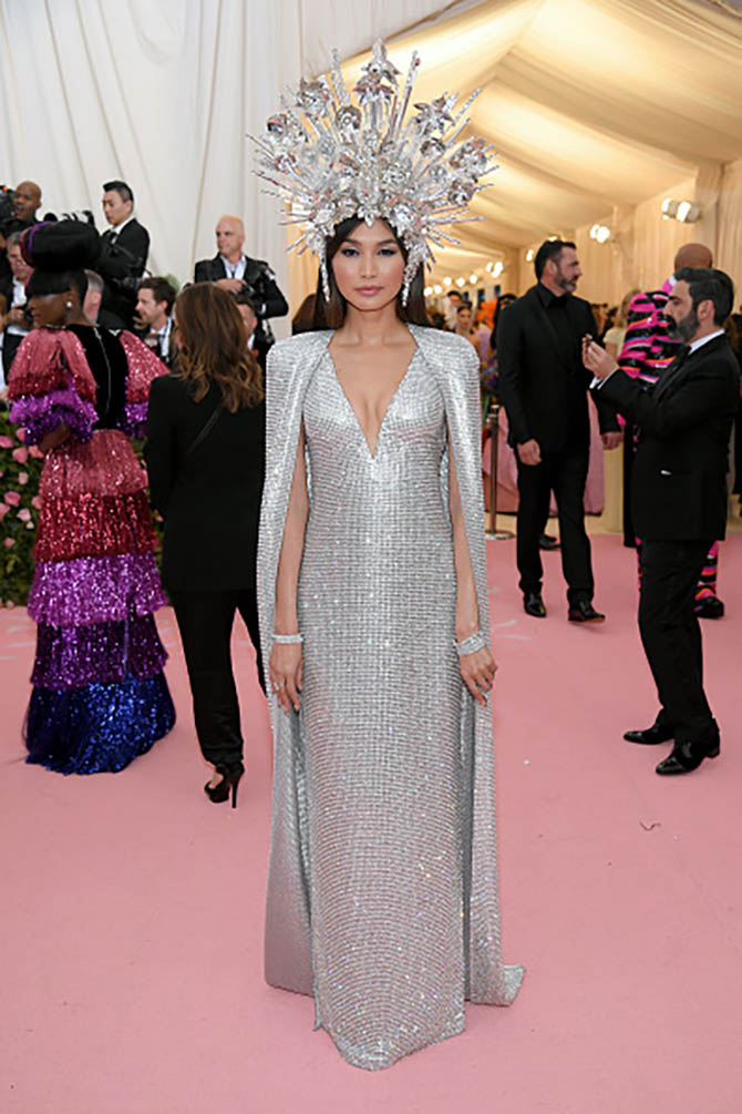 Gemma Chan wearing several Forevermark bracelets including styles from the Black Label collection, Martin Flyer and Dalumi.