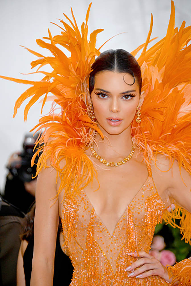 Kendall Jenner wore Imperial Topaz and diamond Tiffany jewels at The 2019 Met Gala