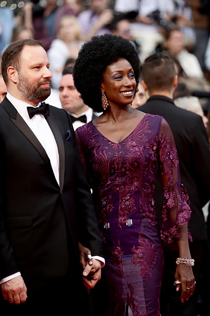 Jury members director Yorgos Lanthimos and actress Maimouna N'Diaye wearing Chopard jewels.