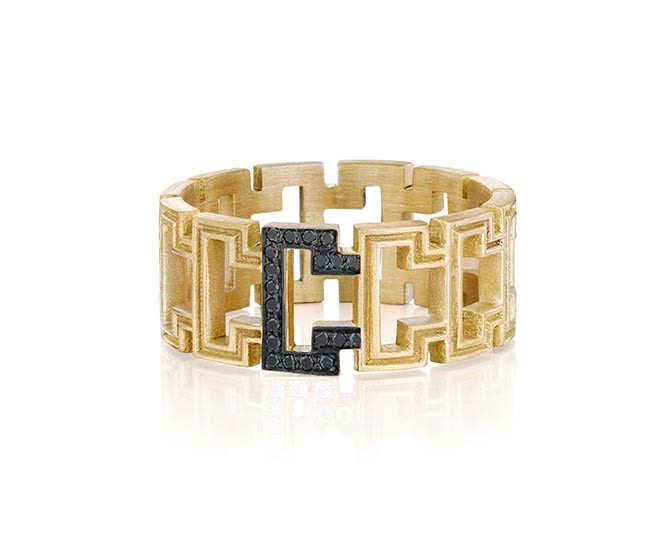 Doryn Wallach Greek Key band worn by Emma Thompson in Late Night.
