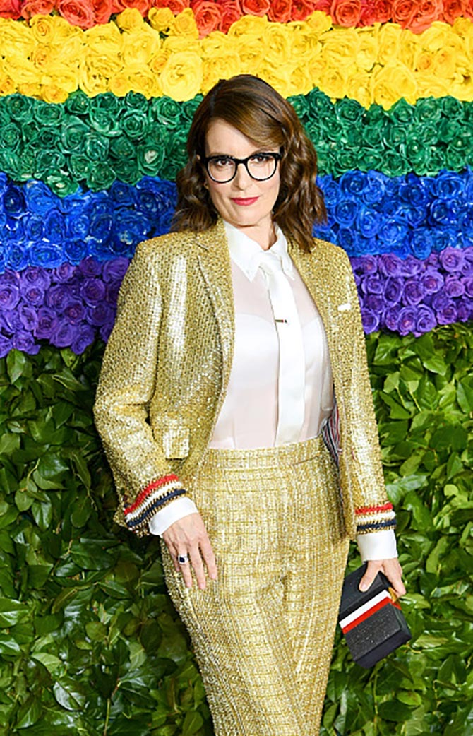 Tina Fey wore rings from Fred Leighton