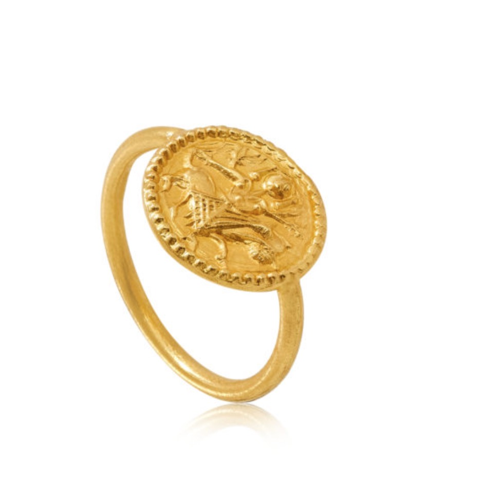 The Goddess Durga Round Ring by Pippa Small that Meghan Markle wore at Wimbledon.