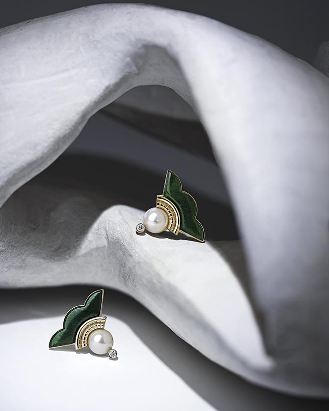Earrings from Ioanna Souflia's Atelier collection. Photo courtesy
