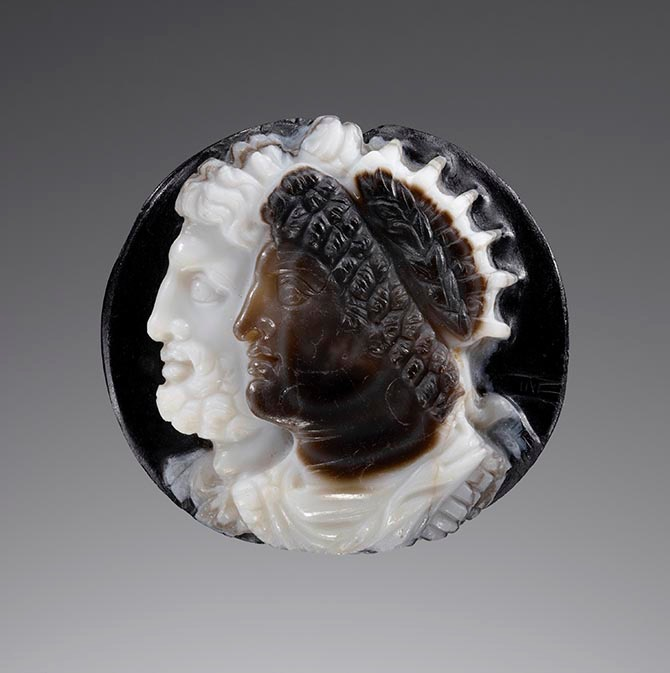 From 'Looking at Jewelry,' a banded agate cameo, Greek (Ptolemaic), made in Egypt during the second century BCE. Photo J. Paul Getty Museum, Villa Collection.
