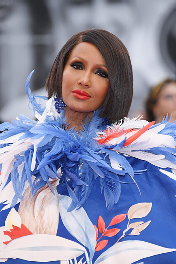 "Iman walks the red carpet ahead of the Opening Ceremony and the ""La Vérité"""