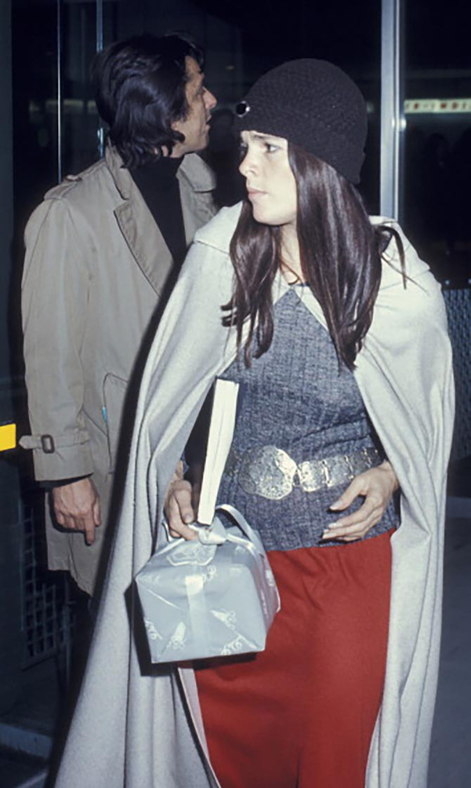 Ali MacGraw and Robert Evans sighted on March 4, 1971 at JFK Airport in New York City.