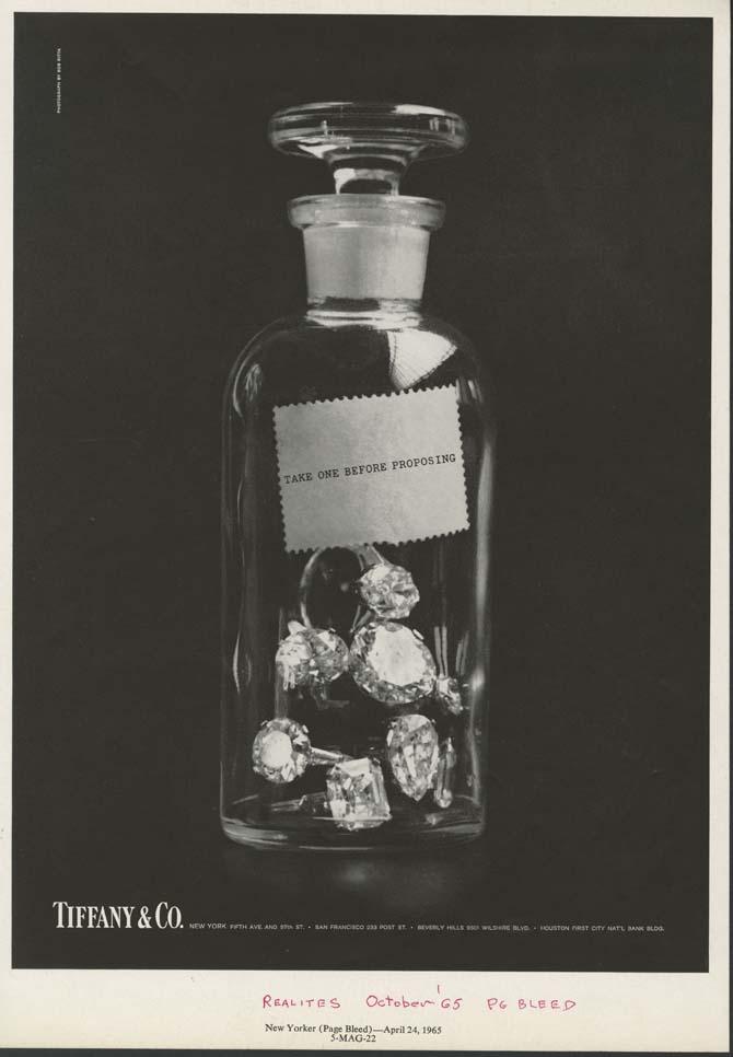 """Take One"" a 1965 Tiffany & Co. advertisement. Photo courtesy"