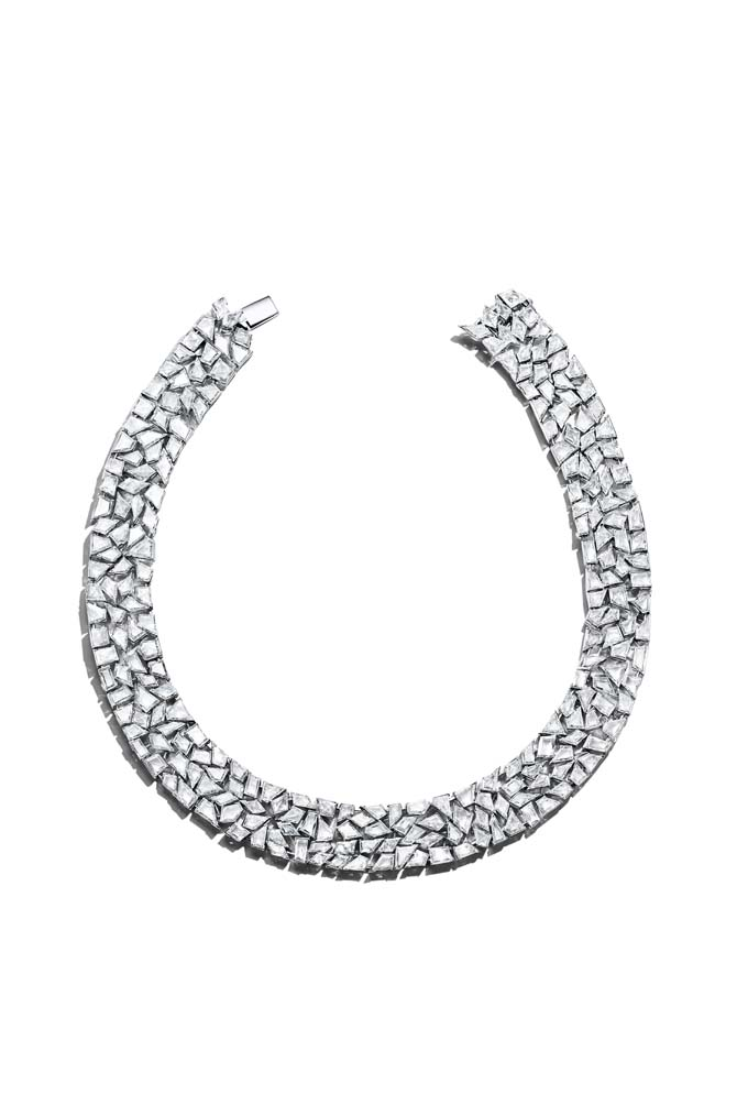 Cracked Ice diamond necklace featured in Tiffany's 2019 Blue Book collection.