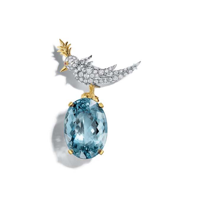Jean Schlumberger's Bird on A Rock brooch