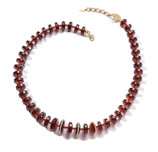 COOMI garnet and diamond necklace, $6,900