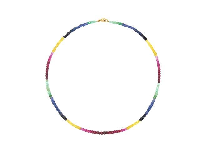 HARRIS ZHU rainbow sapphire necklace, $825