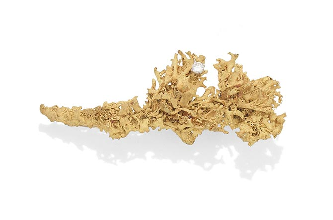 LONDON LOT 27 – A diamond lichen brooch by GRIMA, circa 1975