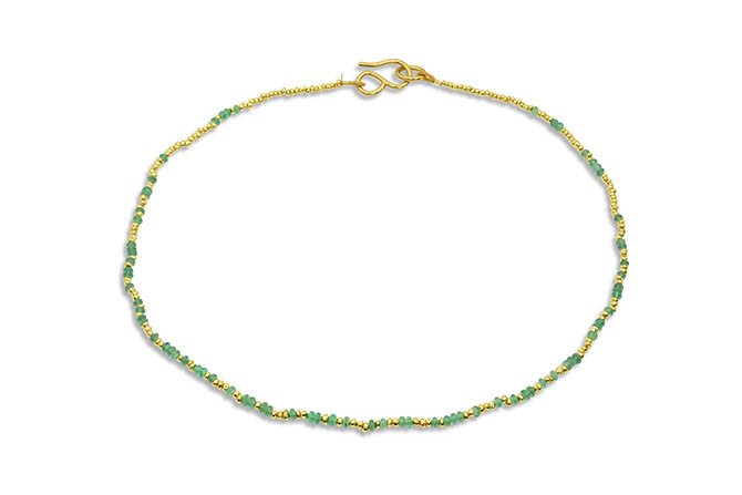LOREN NICOLE emerald and 22k gold necklace, $6,660