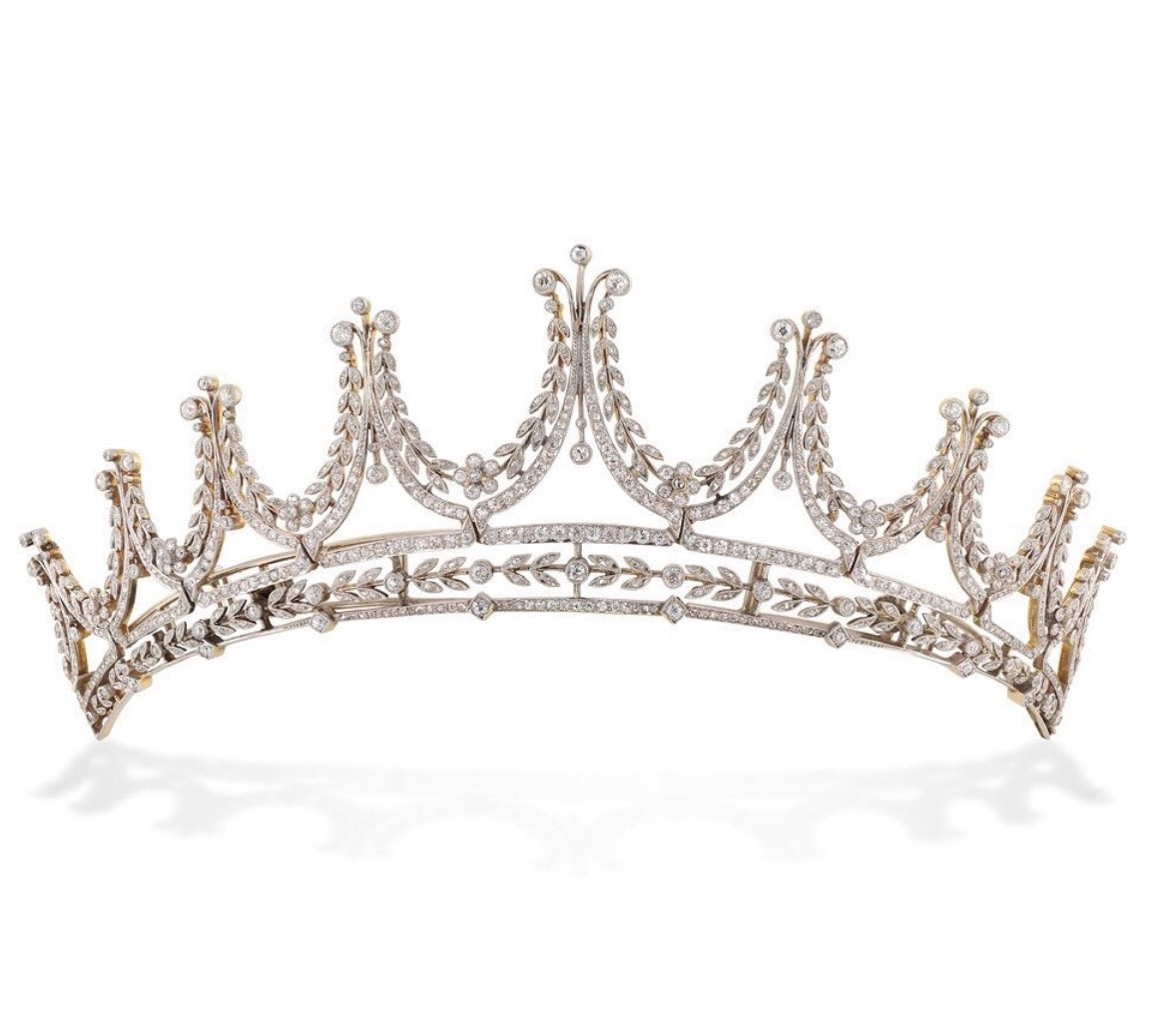 The Ewardian Tiara worn by Cora Crowley in 'Downton Abbey' from Bentley & Skinner. Photo via Instagram @bentley_skinner