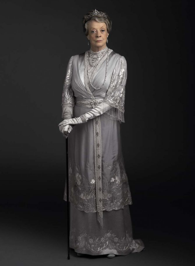 And, importantly, the indispensable Dowager Countess (Maggie Smith) returns to quip, scheme and wears, well, everything including a Victorian diamond set tiara from Bentley & Skinner.