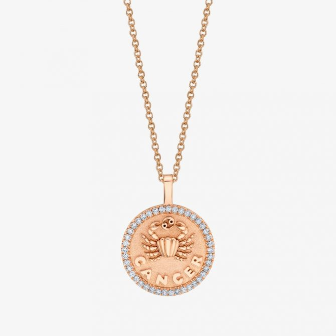 ANITA KO 18k rose gold and diamond Cancer necklace, $8,200