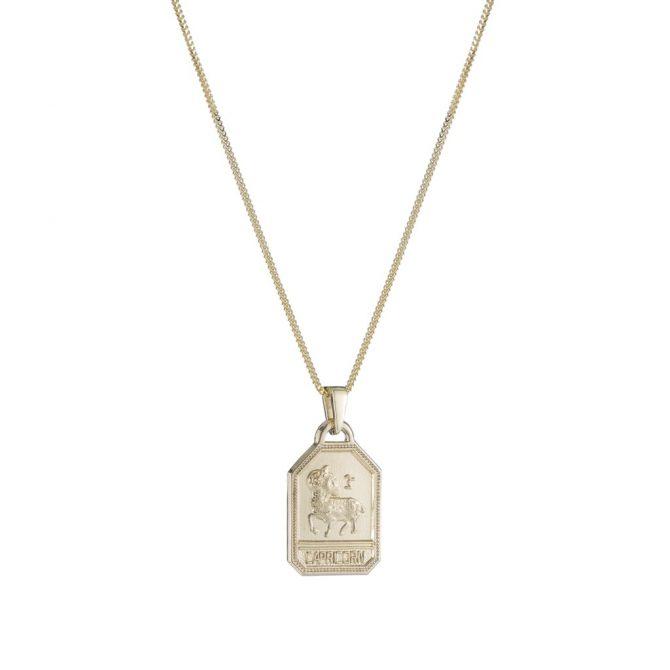 ARIEL GORDON 14k Capricorn necklace, $900