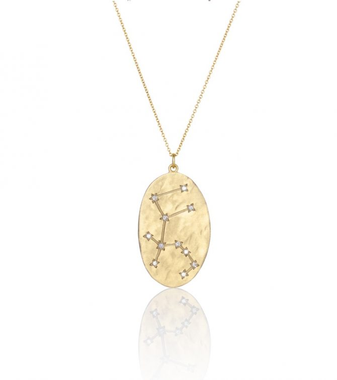 BROOKE GREGSON 14k gold and diamond Aquarius necklace, $2,200