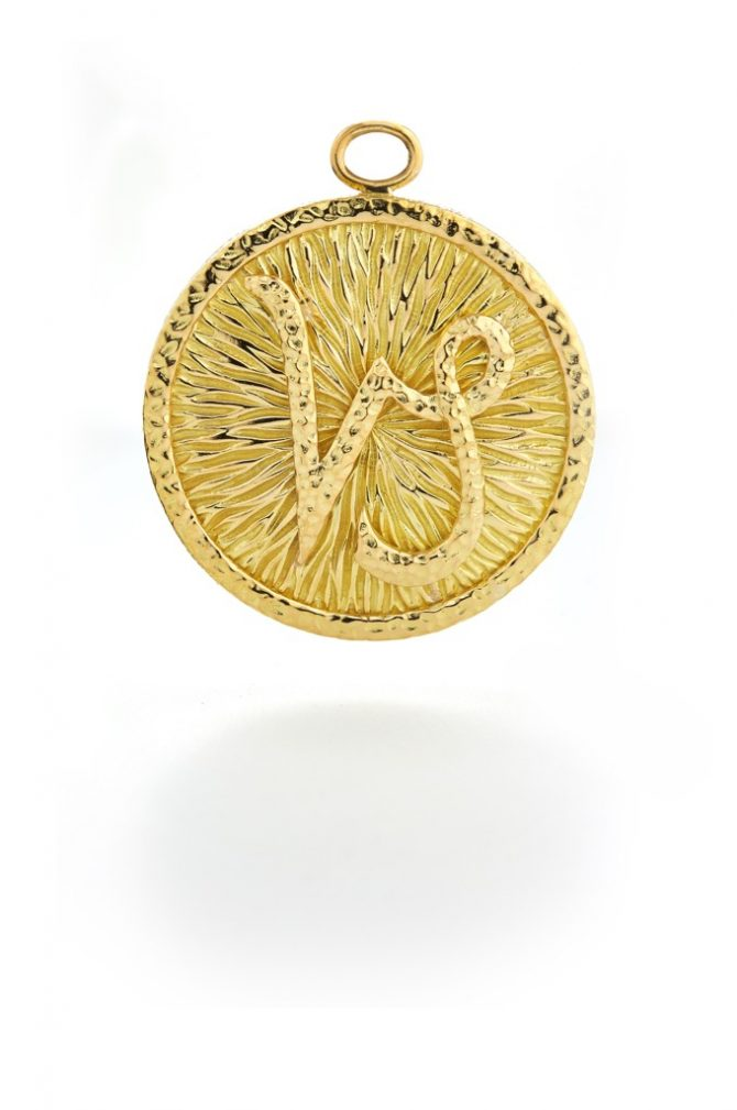 DAVID WEBB 18k Capricorn pendant, $7,200 by special order