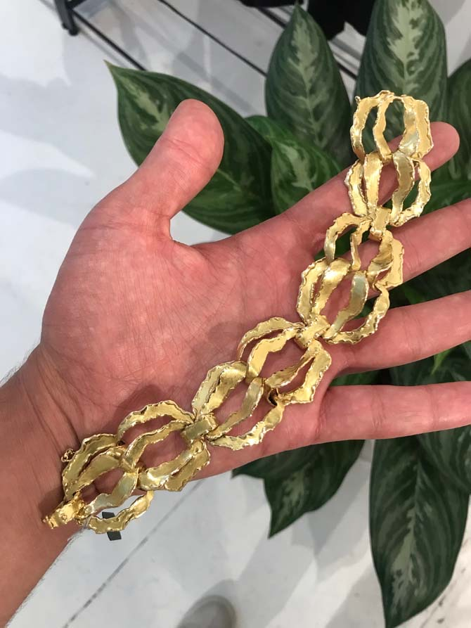 Gold vintage Chaumet bracelet from Pat Sailing Collection