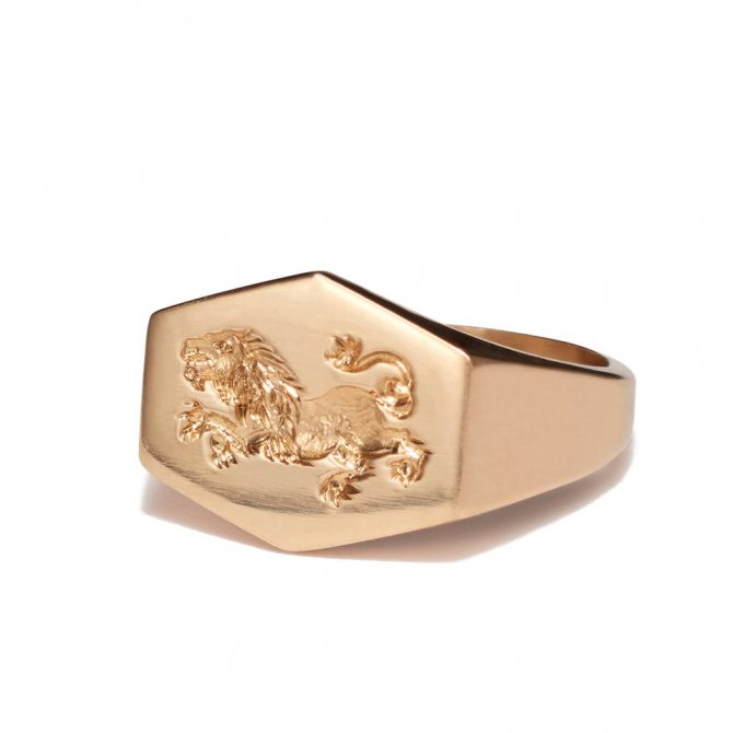 KIM DUNHAM 18k Leo ring, $2,900