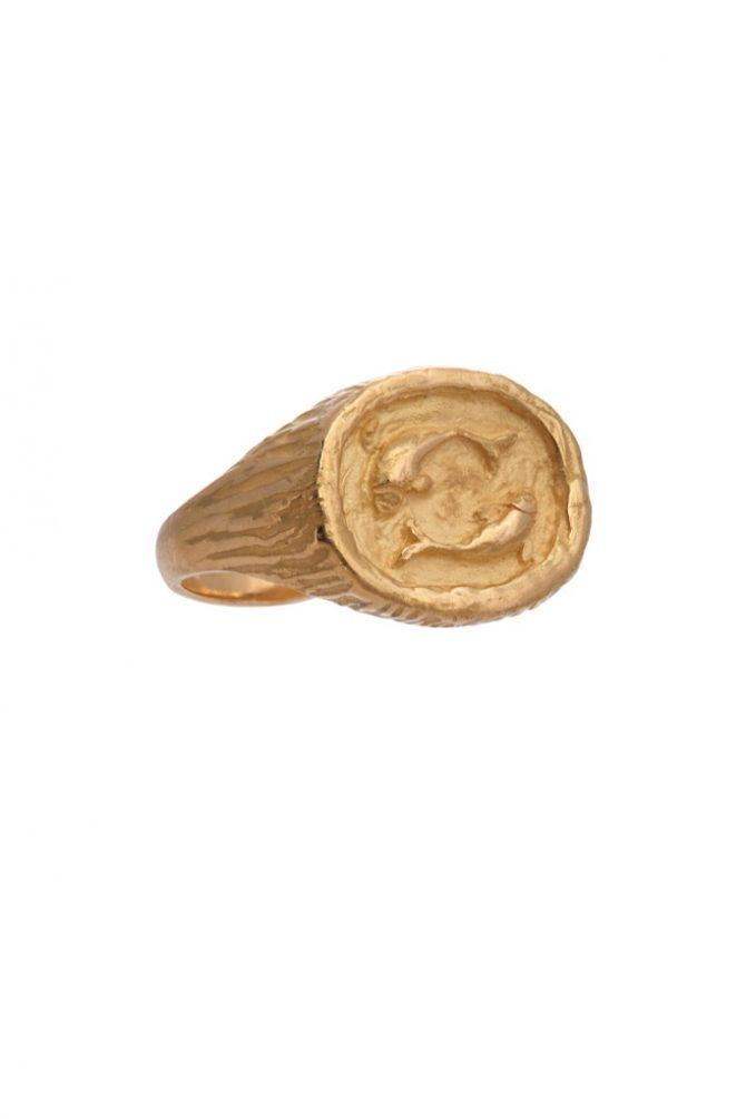 SIDNEY GARBER 18k Pisces pinky ring, $2,500