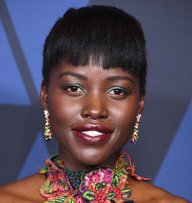Lupita Nyong'o wore Bulgari earrings.