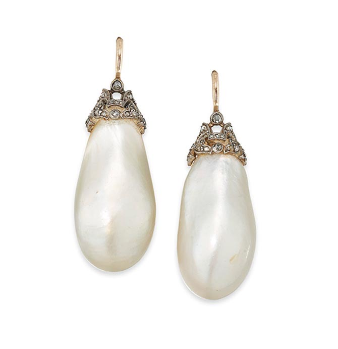 Empress Eugenie pearl earrings