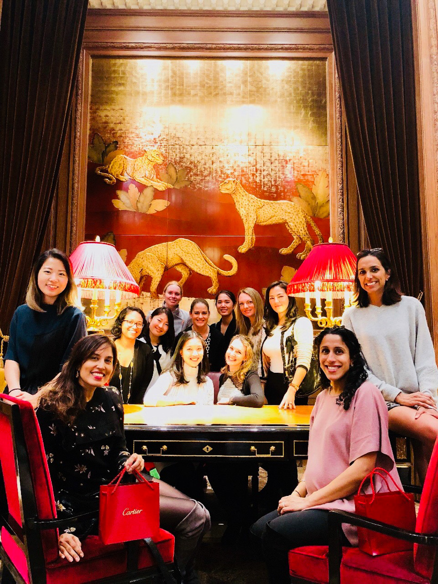 Members of Gem X on a tour of the Cartier Mansion in New York City. Photo courtesy