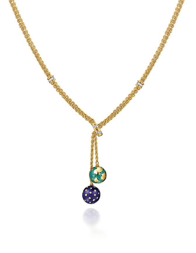 Verdura Night and Day lariat necklace inspired by Cole Porter's cufflinks. Photo courtesy