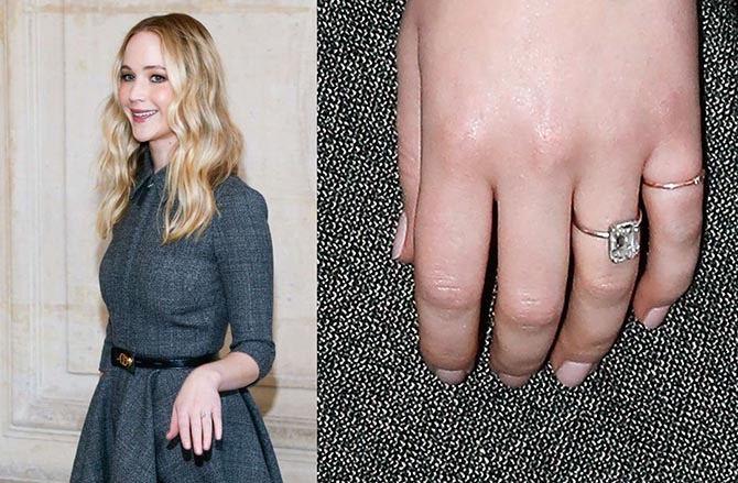 Jennifer Lawrence engagement ring by Alison Lou