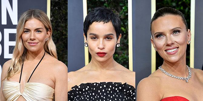 Sienna Miller, Zoe Kravitz, Scarlett Johansson in mini hoops