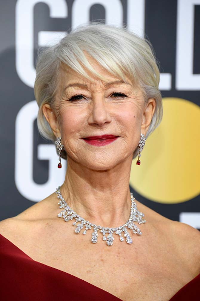 Helen Mirren wore jewels by Harry Winston