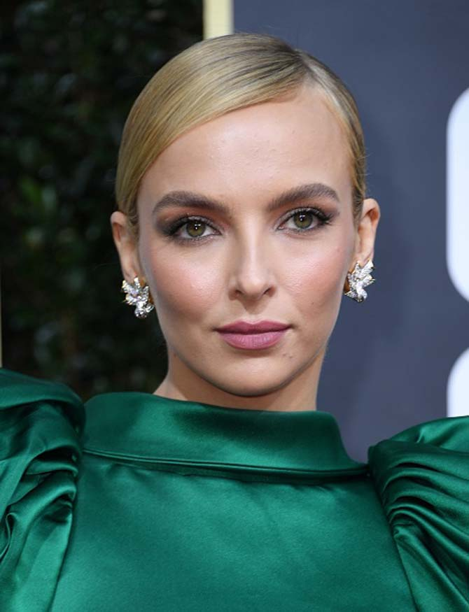 Jodie Comer wore earrings by Tiffany & Co.
