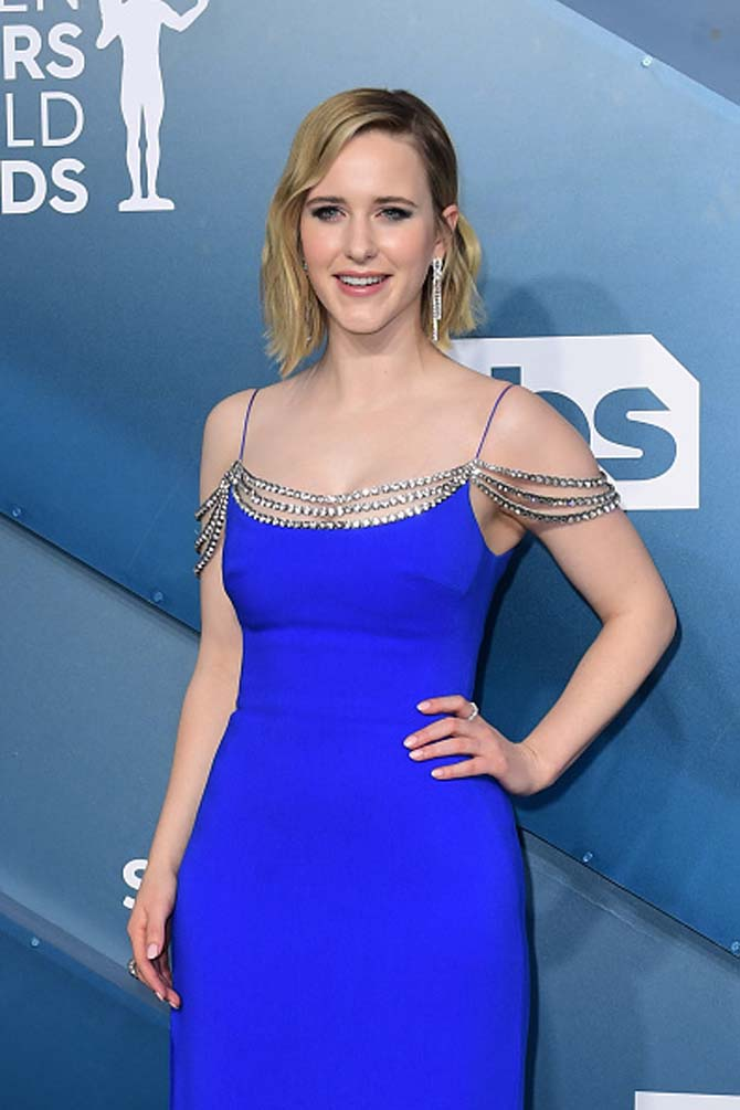 Rachel Brosnahan wore diamond jewels by Forevermark