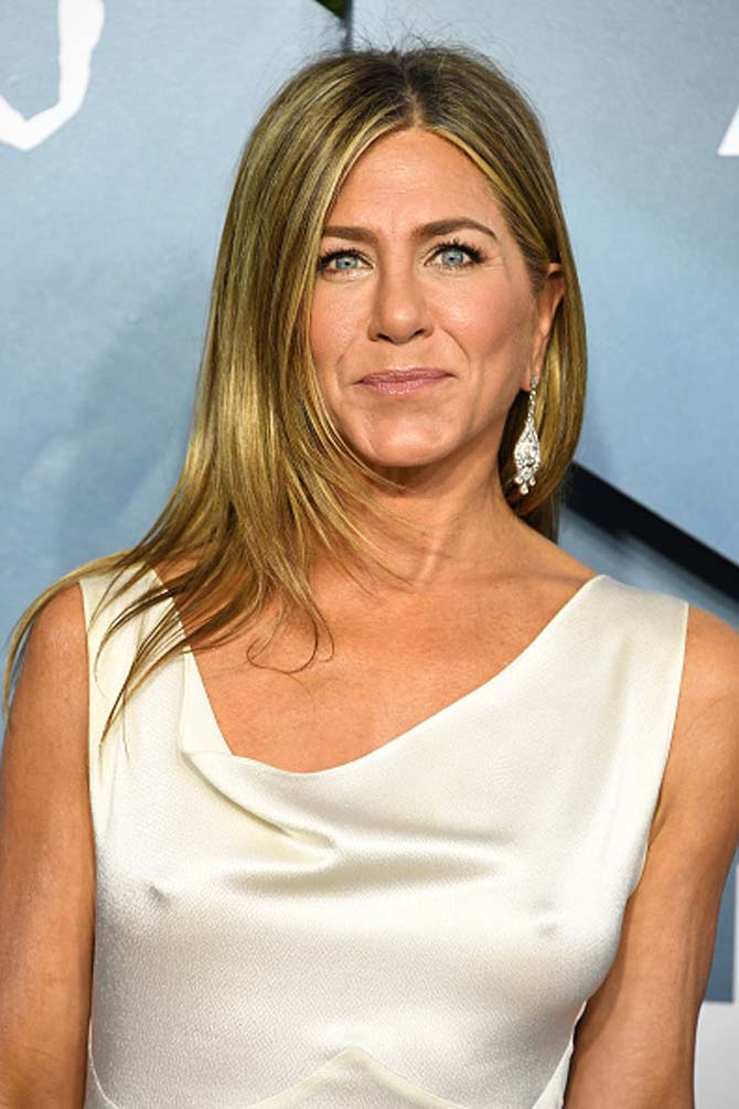 Jennifer Aniston wore diamond earrings from Fred Leighton