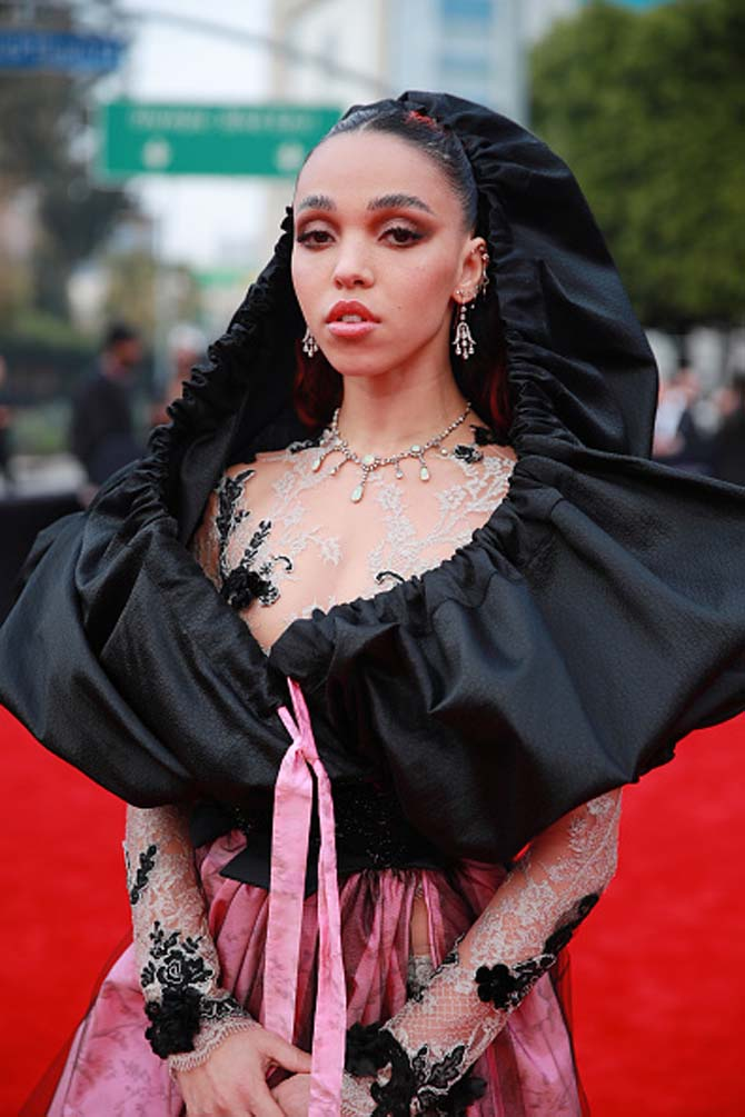 FKA Twigs in jewels from Bentley & Skinner