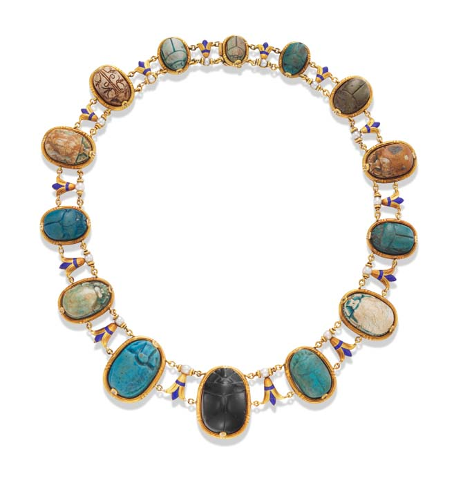 Vintage scarab necklace Photo FD Gallery