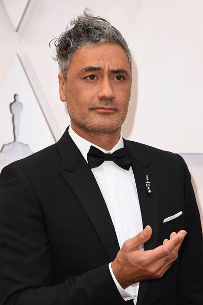 New Zealand director and actor Taika Waititi in Nikos Koulis brooch