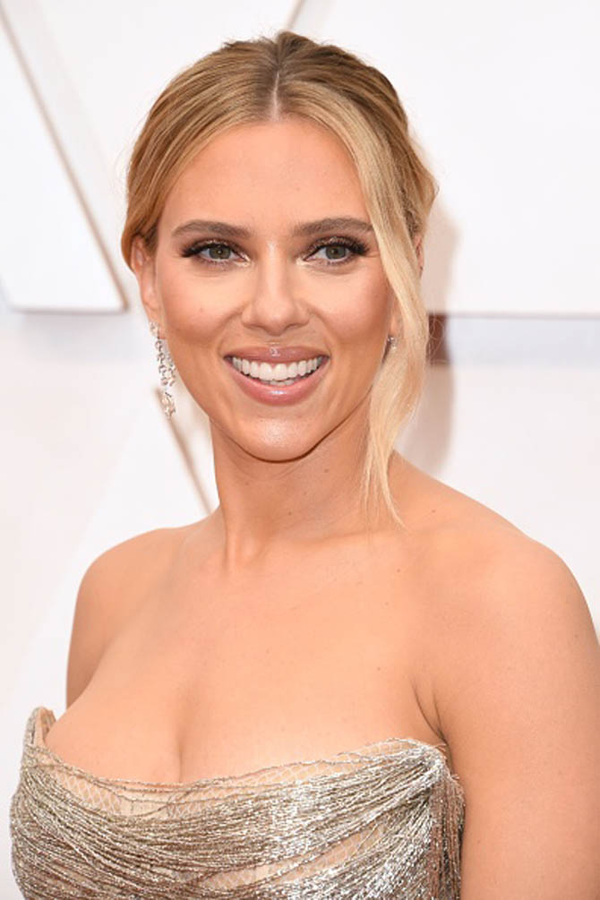 Scarlett Johansson wearing Forevermark x Anita Ko earrings