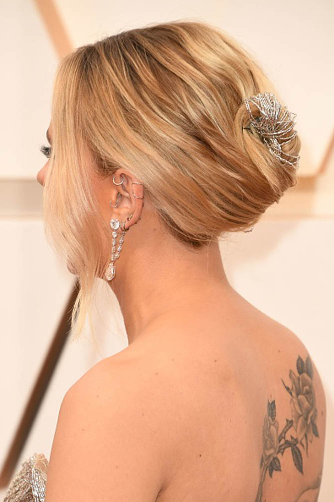 Scarlett Johansson Forevermark x Anita Ko earrings