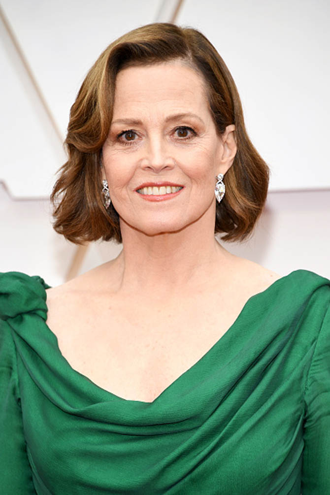 Sigourney Weaver wore diamond earrings by Kwiat