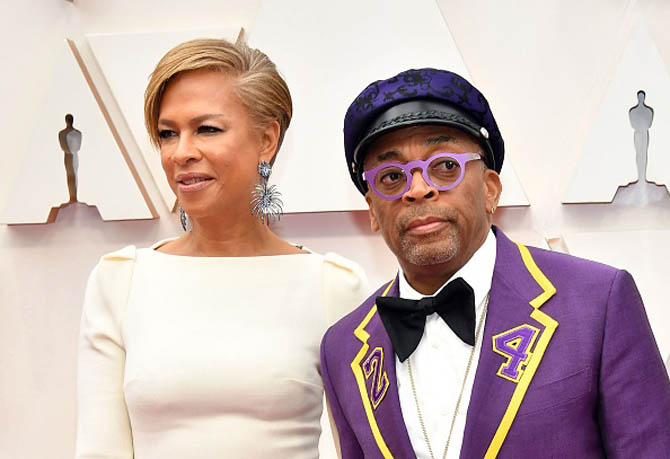 onya Lewis Lee and filmmaker Spike Lee attends the 92nd Annual Academy Awards at Hollywood and Highland on February 09, 2020 in Hollywood, California. (Photo by Amy Sussman/Getty Images)
